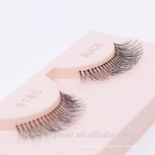 wholesale korean material synthetic silk natural looking false eyelash with private label