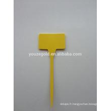 Étiquettes TL de jardin en plastique jaune