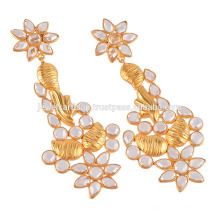 18K Gold Plated Silver Earring and Cubic Zirconia Jhumki