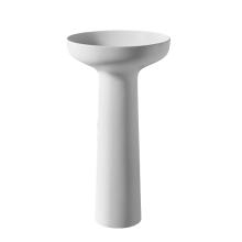 Pure acrylic stone resin column washbasin for bathroom