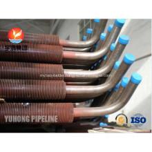CuNi 90/10 Shape Type Heat Exchanger Fin Tube OD25.4 X 1.5WT L Finned Copper Tubing