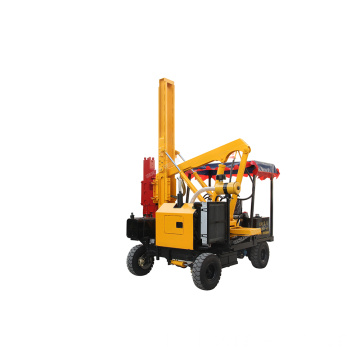 Four-wheel Hydraulic Road Piling Machine Small Piling Driver
