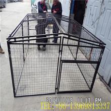 Vendre la cage noire d'animal familier, cage en métal de chien avec le plateau d'ABS