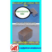 Редкие земли спеченные блок магнит w/шаг в 6.35X12.7X4.76mm