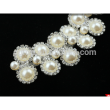 Kristallschulterkette Strasssteine mit Perle