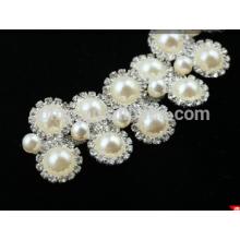 Guarnición cristalina del rhinestone de la cadena del hombro con la perla