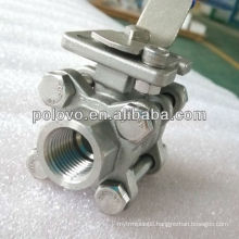 3 pieces full port 1/2'' stainless steel ball valve