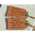 Fashionable Travel Leather Luggage Tag