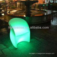 mobilier d'extérieur moderne en plastique led canapé