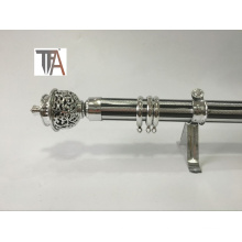 Silver Color Curtain Pipe Iron Curtain Rod for Home Decoration