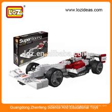 Niños juguetes de bricolaje super coche de carreras loz bloque de juguete