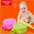 Boîte de rangement en plastique à trois compartiments pour bébé en poudre de lait