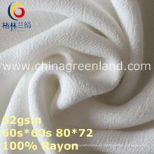 Tela de tingidura tecida crepe de Rayon de 100% para o vestuário da mulher (GLLML370)