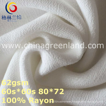 100%Rayon Crepe Woven Dyeing Fabric for Woman Garment (GLLML370)