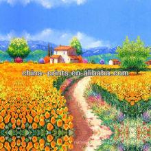 Bunte Tulpe-Blumen-Malerei-Kunst auf Segeltuch