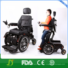 Heavy Duty Steel Electric Power Wheelchair Standing up