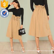 Ruffle Waist Cocoon Skirt Manufacture Wholesale Fashion Women Apparel (TA3081S)