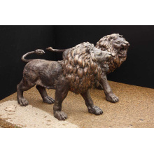 Life Size Brass Lion Animal Statue