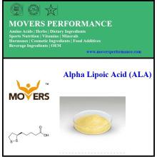 Acide alpha-lipoïque naturel pur de haute qualité (ALA)