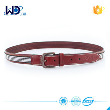 New fashion elaist facbic and leather belt FACTORY