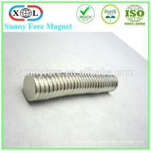 Nickel plated Runde dünne Magnete N35