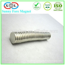 nickel plated N35 round thin magnets