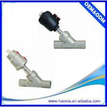 Accionador de plástico válvula de asiento de ángulo, para el aire, agua, gas, vapor, aceite
