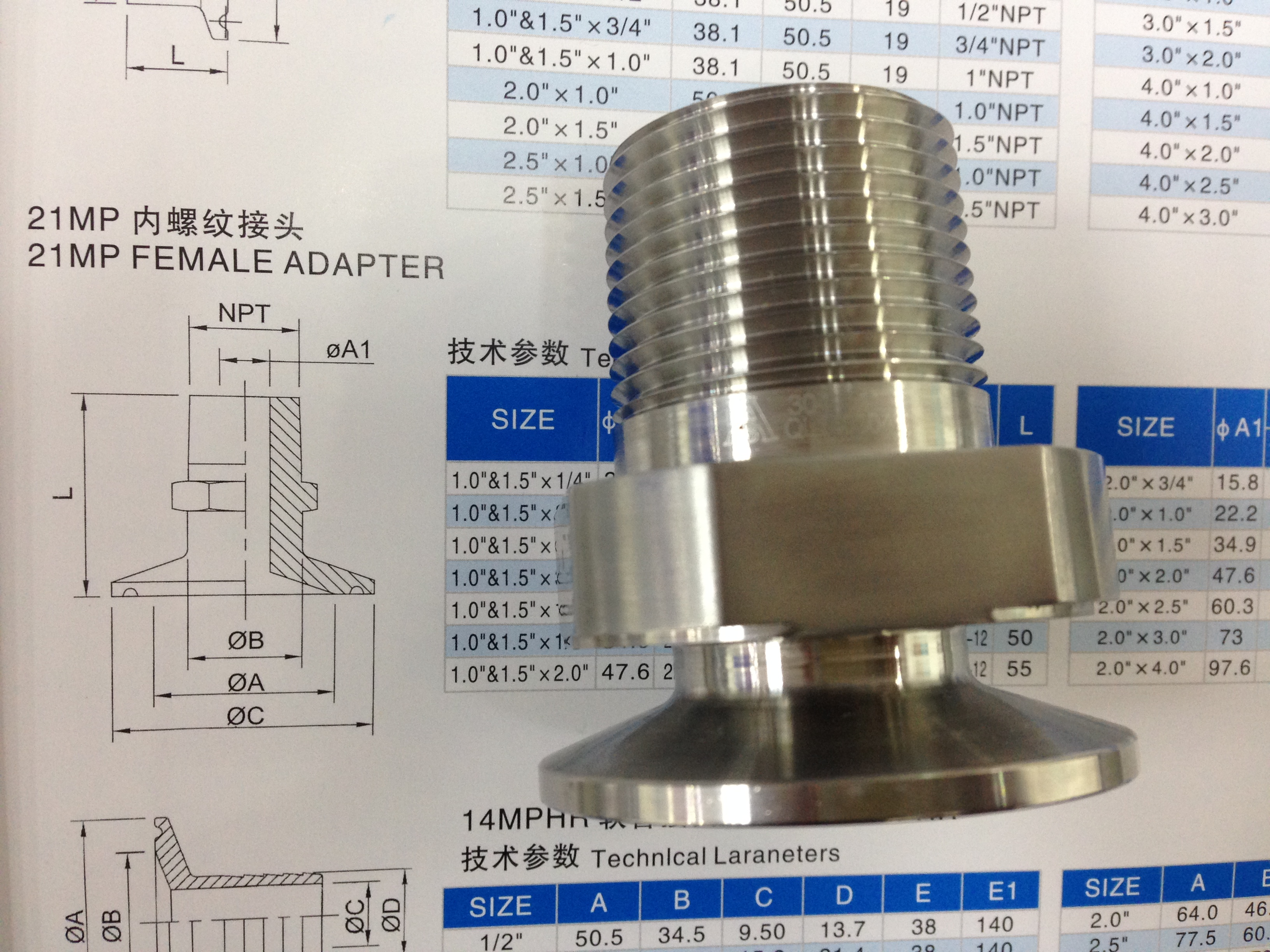 Thread hose adapter