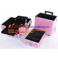 Abnehmbarer 4-lagiger mobiler Kosmetikkoffer mit Rädern
