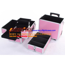 Detachable 4 Layers Mobile Cosmetic Case with Wheels