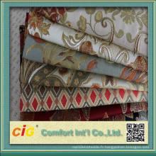 Hot Sale Tissu jacquard 100% polyester pour canapé