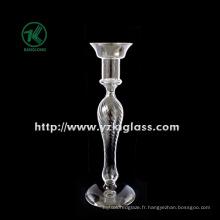 Bougeoir en verre pour décoration de mariage avec affiche unique (DIA 8.5 * 25)