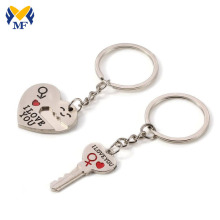 Custom Funky Detachable Pair Metal Keychains