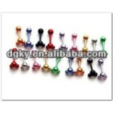 Personnalisé petit bijoux en acier inoxydable bijoux piercing à l'oreille