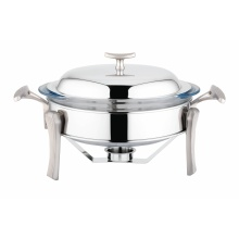 Round Party Chafer Catering Food Warmer Dish Tray