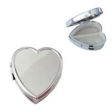 Серебряный Heart-Shaped Металл Коробка для таблеток (BOX-10)