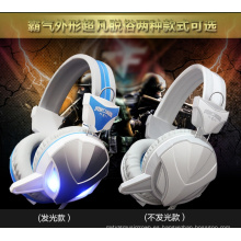 CE, certificado de RoHS Atado con alambre auriculares de la computadora del juego con el LED