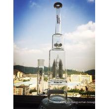Blanco Jade Rocket e Inline 4 Botones Perc de vidrio de tubería de agua