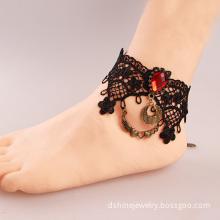 India Vintage Black Lace Anklet For Women Love Gift For Girl