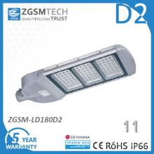 Luz de rua solar do diodo emissor de luz da tampa IP66 do vidro temperado 180W