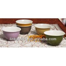 KC-04016ice tazones de fuente de crema, arroz / tazón de fuente de sopa, estilo hermoso cuencos sólidos de cerámica