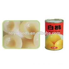 pickled white peach 10*10 dices in candy syrup