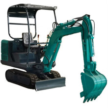 Excavatrice hydraulique à moteur diesel 1T 1.5T