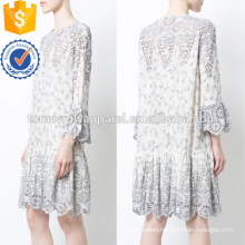 Latest Design 2019 White Lace Long Sleeve Ruffled Mini Summer Dress Manufacture Wholesale Fashion Women Apparel (TA0233D)