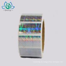 Etiqueta anti-falsificación de la etiqueta engomada del holograma 3D de la seguridad anti-falsificación