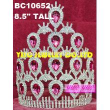 Diamantes del rhinestone del cumpleaños de la manera diamante tiaras nupciales