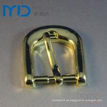 Hebillas de cinturón de aleación de cinc Shinning oro y accesorios de cinturón con pin y clip