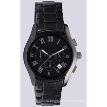 Reloj de pulsera para hombre, reloj de pulsera, para hombre y mujer, de cerámica, negro