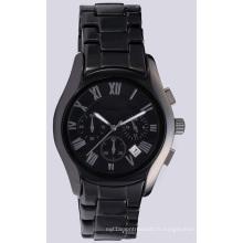 Montre en céramique noire pour homme, montre-bracelet pour homme et femme