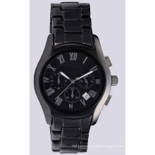 Black Ceramic Watch Hand Watch for Men, Wristwatch for Men and Women